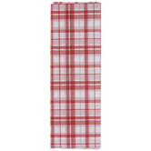 Red & White Plaid Tissue Paper