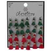 Green & Red Mini Tassel Charms