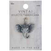Antique Blue Elephant Head Charm