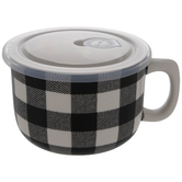 Black & White Buffalo Check Soup Mug
