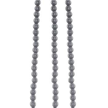 Round Plated Hematite Bead Strands