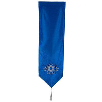 Blue & Silver Star Of David Table Runner