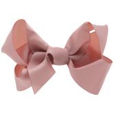 Bubblegum Grosgrain Bow Clip