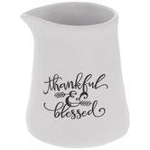 Thankful & Blessed Creamer