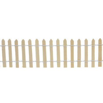Wood Picket Fence With Wire