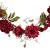 Red Hydrangea & Dahlia Mixed Garland