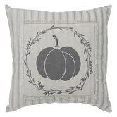 Pumpkin Striped Pillow