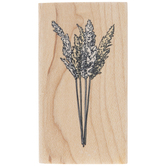 Pampas Grass Stems Rubber Stamp