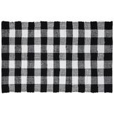 Black & White Buffalo Check Chindi Rug
