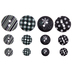 Black & White Multi-Print Round Buttons