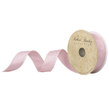 """Light Pink Shimmer Wired Edge Ribbon - 1"""""""