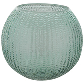 Green Knit Texture Glass Container