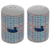 Southern Marsh Plaid Salt & Pepper Shakers