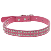Pink With Rhinestones Pet Collar