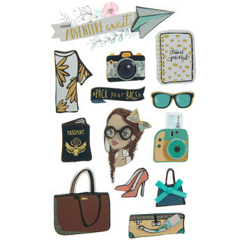 Travel Girl 3D Stickers