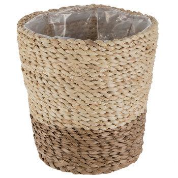 Tall Straw Woven Pot