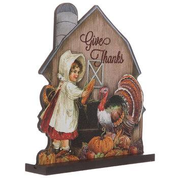 Give Thanks Vintage Farm Wood Decor