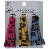 Leopard Print Leather Tassels
