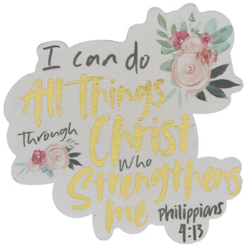 Philippians 4:13 Painted Wood Shape