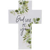 God Gave Me You Wood Wall Cross
