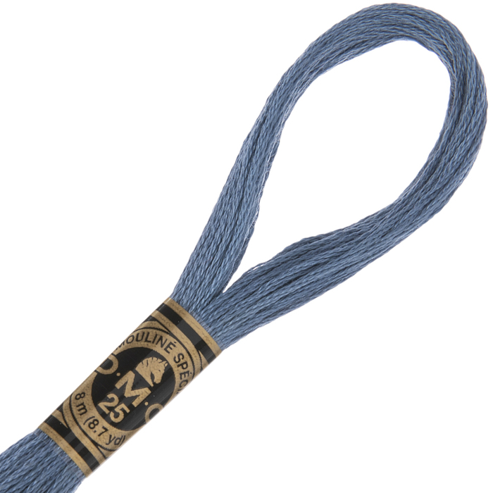 Size 12 Medium Antique Blue DMC 931 Perle Cotton Thread