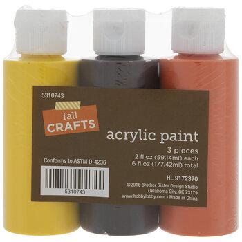 Fall Acrylic Paint - 3 Piece Set
