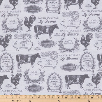 Le Ferme Animals Duck Cloth Fabric