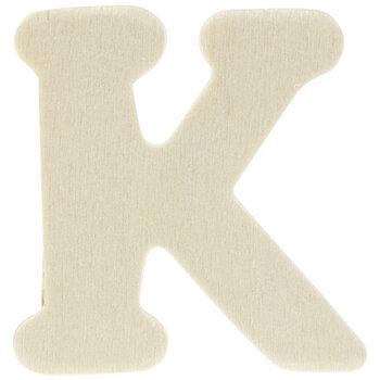 "Wood Letters K - 1 3/4"""