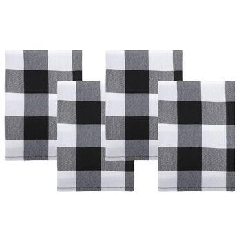 Black & White Buffalo Check Cloth Napkins