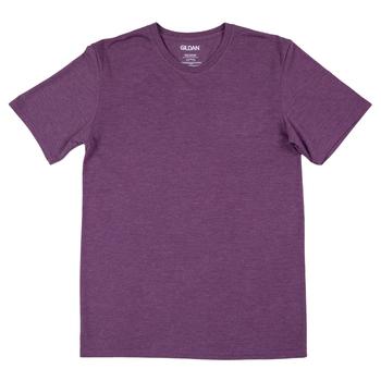 Heather Aubergine Adult Tri-Blend Crew T-Shirt - Large