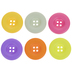Fruity Round Buttons