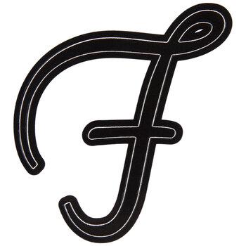 Black Letter Sticker - F