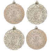 Mercury Swirl Round Ornaments