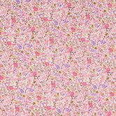 Pink Floral Cotton Calico Fabric