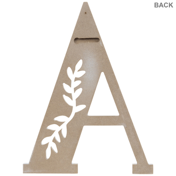 White Vine Letter Wood Wall Decor