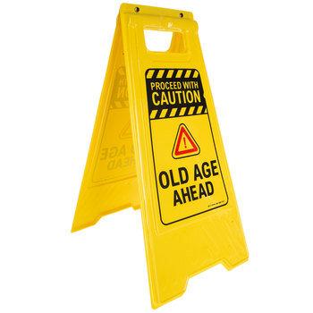 Old Age Ahead Floor Sign