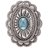 Turquoise Oval Conchos