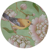 Yellow Bird Floral Plate Charger