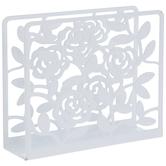 Floral Metal Napkin Holder