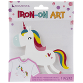 Rainbow Mane Unicorn Iron-On Applique