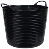 Black Container With Handles - Large