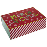 Striped Merry Christmas Treat Boxes