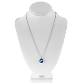 Blue Faceted Rhinestone Necklace