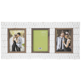 White Dimpled Collage Wood Wall Frame