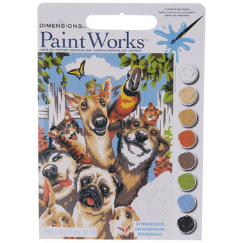 Pet Selfie Paint By Number Kit