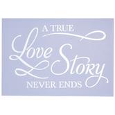 A True Love Story Stencil