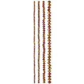 Rose Faceted Glass Bead Strands
