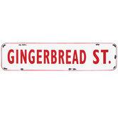 Gingerbread St. Metal Wall Decor