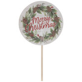 Merry Christmas Wreath Cupcake Toppers