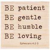 Ephesians 4:2-3 Rubber Stamp